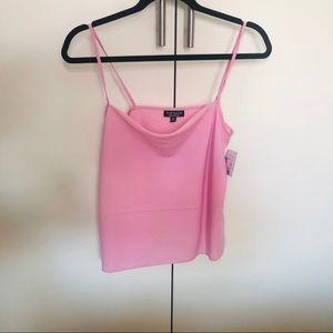 NWT TOPSHOP Pink Cowl Tank